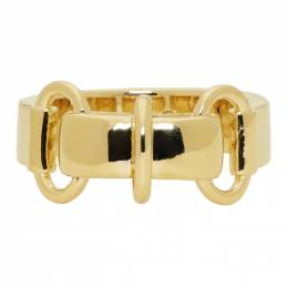 A.P.C. Gold Cybill Ring 192252M14700303GB