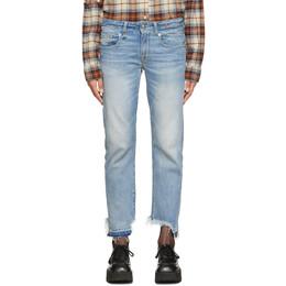 R13 Blue Boy Straight Jeans 192021F06900801GB