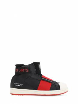 Leather Slip-on High Top Sneakers Moa Master Of Arts 70IOF5007-QkxBQ0s1
