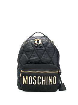 Moschino - large quilted logo backpack 65806393066399000000