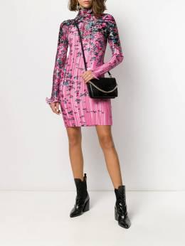 Givenchy - плиссированное атласное платье с цветочным принтом 6TR90H39593093900000