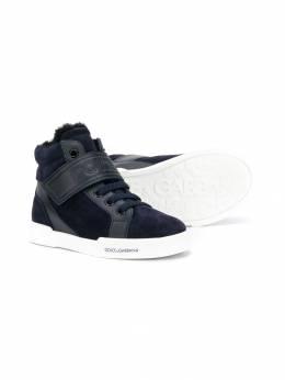Dolce&Gabbana Kids - высокие кроссовки с логотипом 350A3935953885390000