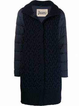 Herno - knitted front padded zip-up coat 633D3936695595835000