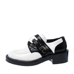 Balenciaga Monochrome Leather Buckle Detail Derby Size 38.5 227348