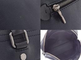 Louis Vuitton Black Leather Messenger Bag 227516