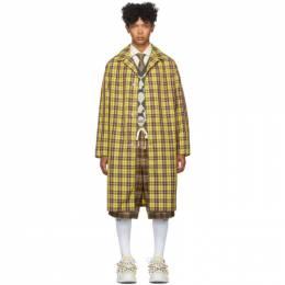 Gucci Yellow and Burgundy Nylon Coat 576232 ZACCH