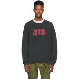 R13 Black Thunderbolt Sweatshirt 192021M20400303GB
