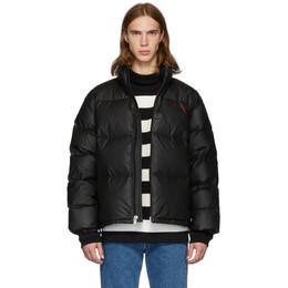 Alexander Wang Black Down Pleather Chynatown Puffer Jacket 192187M17800102GB