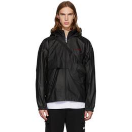 Alexander Wang Black Pleather Chynatown Track Jacket 192187M18000401GB