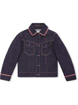 Fendi Kids - джинсовая куртка с вышитым логотипом 666A6IQ9559895900000