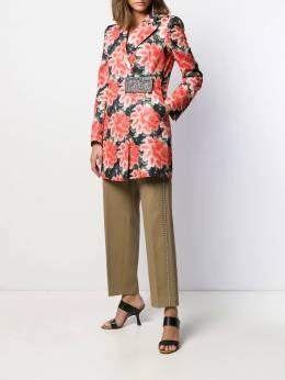John Richmond - floral jacquard size-fastening blazer 99385CP9559556800000