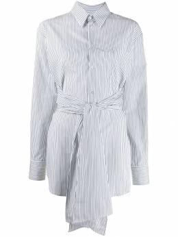 Mm6 Maison Margiela - belted striped shirt DL6000S5009595596555