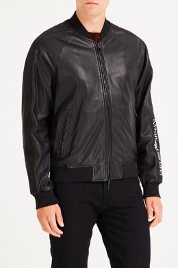 Черная куртка из кожи Emporio Armani 2706154049