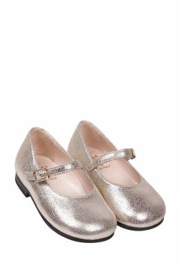 Серебристые туфли на девочку Il Gufo 1205153524