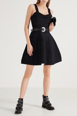 Черное платье-мини на бретелях Maje 888153522