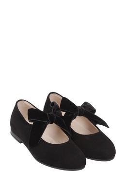 Детские бархатные туфли с бантами Il Gufo 1205153568