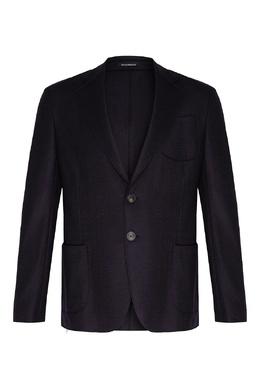 Синий пиджак из шерсти Emporio Armani 2706154040