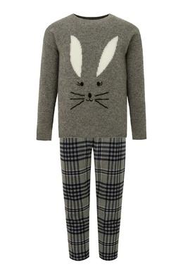Серый комплект из свитера и брюк Il Gufo 1205153621