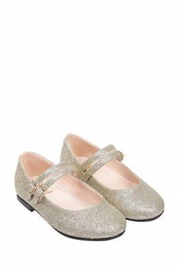 Детские золотистые туфли Il Gufo 1205153523
