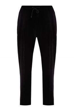 Черные вельветовые брюки-джоггеры Emporio Armani 2706154064
