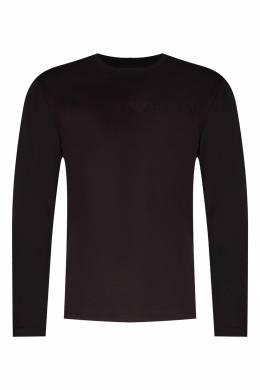 Черная футболка с рельефным логотипом Emporio Armani 2706154163