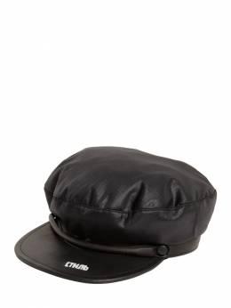 Leather&Nylon Cap Heron Preston 70IAIF005-MTAwMQ2