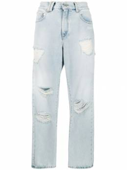 Off-White - ripped straight leg jeans A690F993336653969939