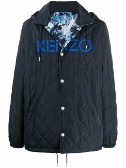 Kenzo стеганое пальто с логотипом F965OU3641NH