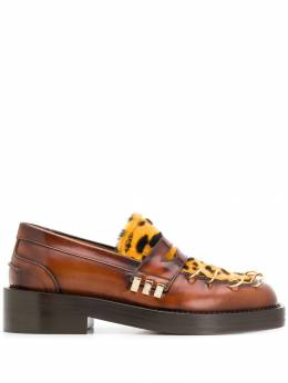 Marni - leopard panel chunky loafers S669565LV85593363358