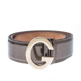 Gucci Metallic Patent Leather G Buckle Belt 85CM 227441