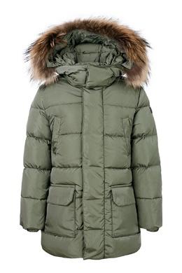 Удлиненная зеленая куртка Il Gufo 1205153479