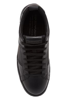 Кожаные кеды черного цвета Emporio Armani 2706153793