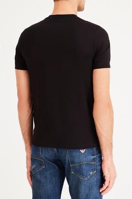 Черная футболка с круглым принтом Emporio Armani 2706154441
