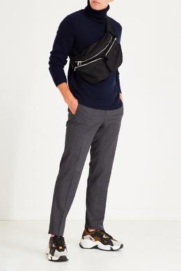 Серые брюки на кулиске Sandro 914153170