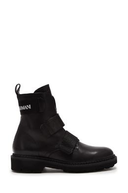 Черные кожаные ботинки Emporio Armani 2706153803