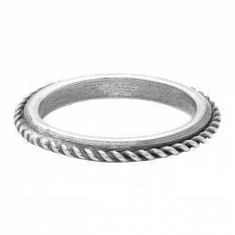 Ugo Cacciatori Silver Edge Cable Ring 192045M14700601GB