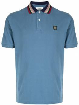 Kent & Curwen рубашка-поло с воротником в полоску K39H9TM130