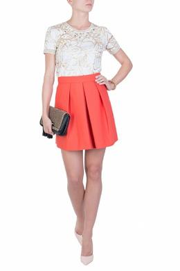 Коралловая юбка со складками Patrizia Pepe 1748154404