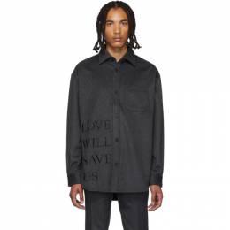 Stolen Girlfriends Club Grey Love Will Save Us Painter Shirt 192068M19200402GB