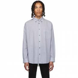 Stolen Girlfriends Club Blue and White Fine Line Painter Shirt 192068M19200302GB