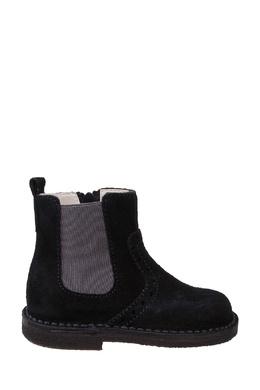 Черные замшевые ботинки с молнией Il Gufo 1205154079