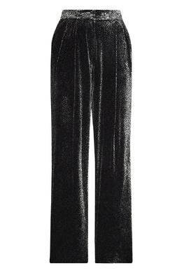 Бархатные брюки с узором Emporio Armani 2706154206