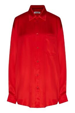 Красная шелковая блузка Balenciaga 397154711