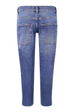 Голубые джинсы с лампасами Fendi Kids 690154022