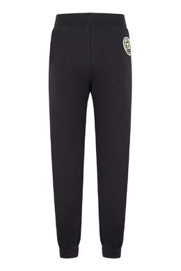 Темно-синие брюки-джоггеры с круглым логотипом Fendi Kids 690154020
