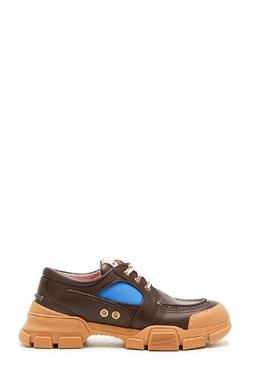 Комбинированные коричневые ботинки Gucci Man 2674154689