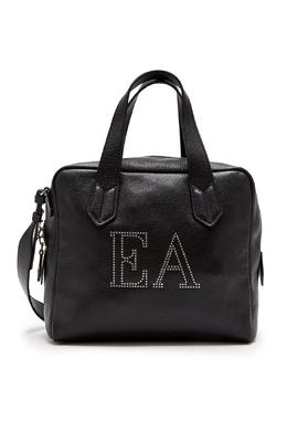 Кожаная сумка с логотипом Emporio Armani 2706154467