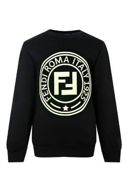 Черный свитшот с логотипом Fendi Kids 690154014
