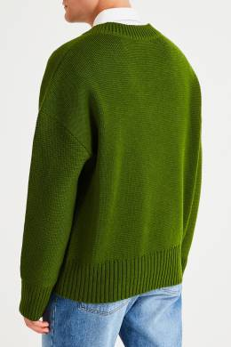 Зеленый джемпер из шерсти Ami 1376154498
