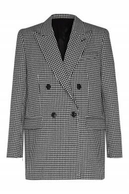 Двубортный пиджак в клетку Ami 1376154500